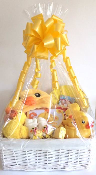 Deluxe Duck New Baby Gift Basket Hamper