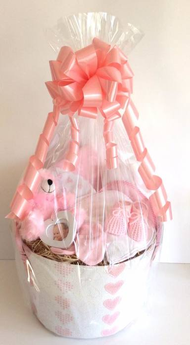 Baby Girl Gift Tub pink Hearts
