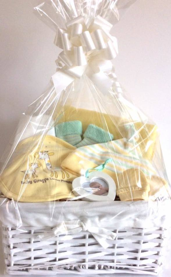 Lemon Green Neutral Baby Gift Basket