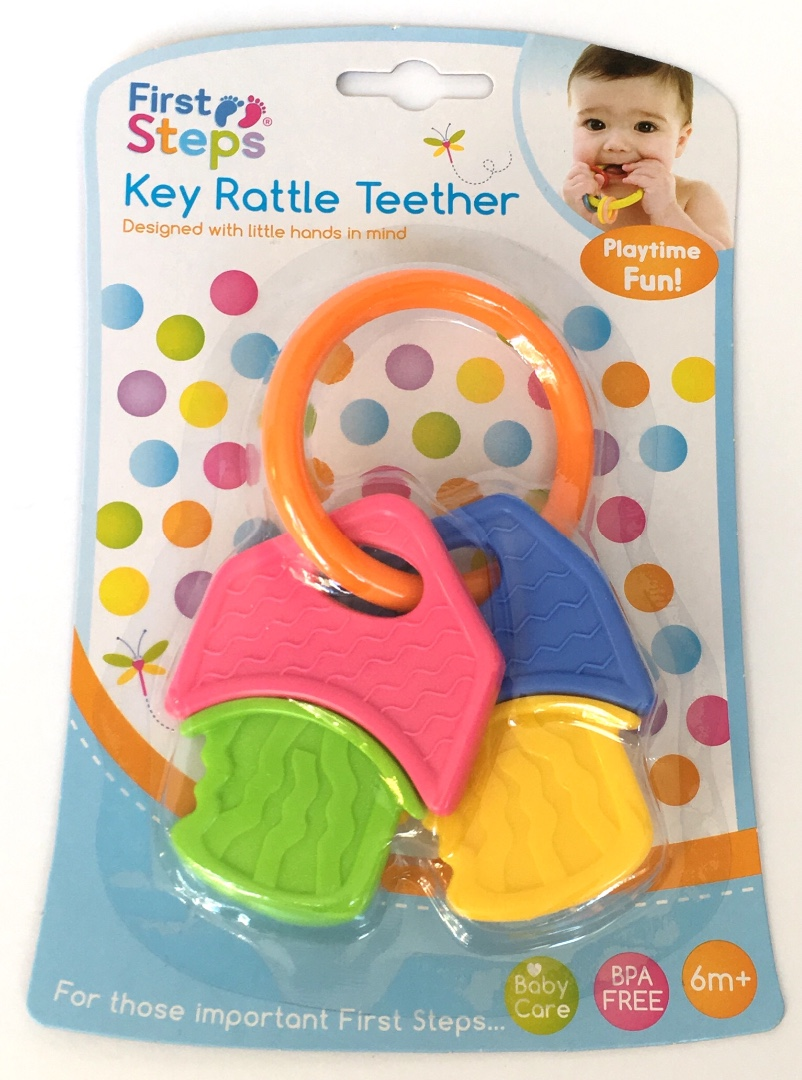 First steps key rattle teether.