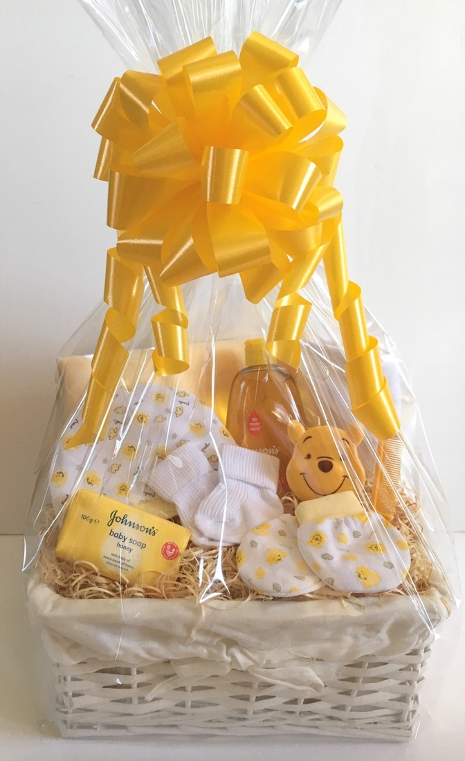 Pooh Bear Neutral Baby Gift Basket