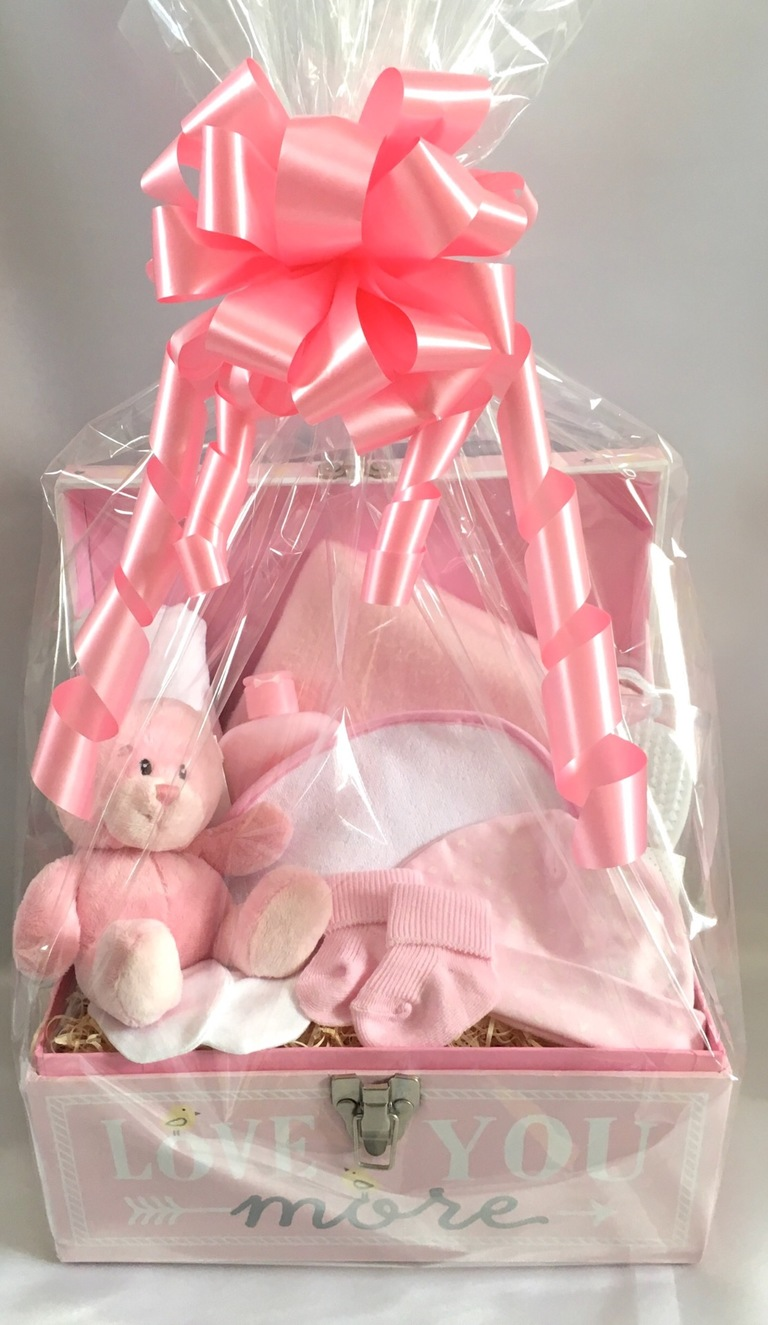 new baby girl gift basket hamper