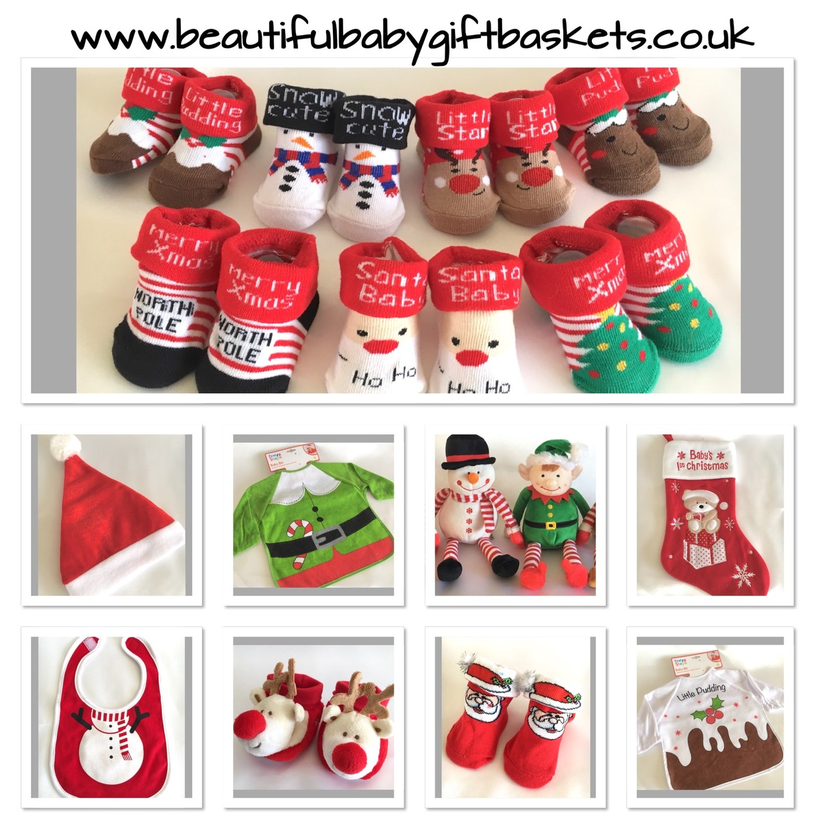 christmas Baby Socks gifts bibs stocking