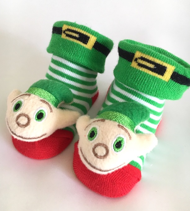 elf baby novelty socks gift christmas