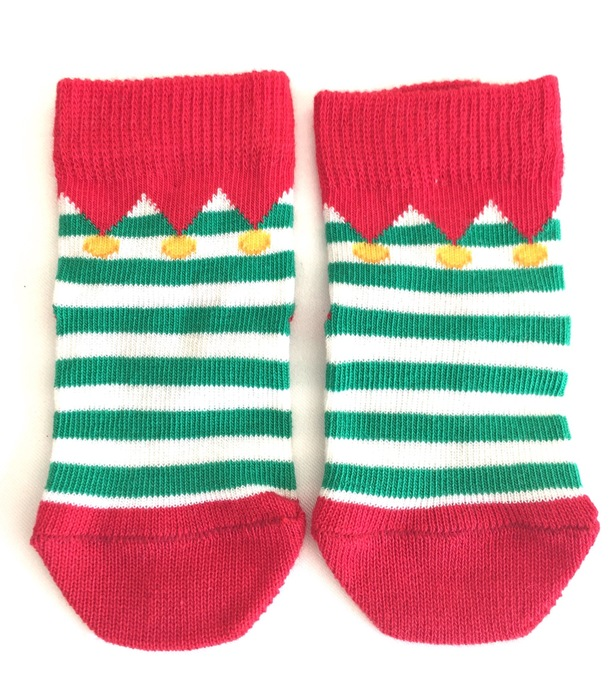 elf baby socks christmas