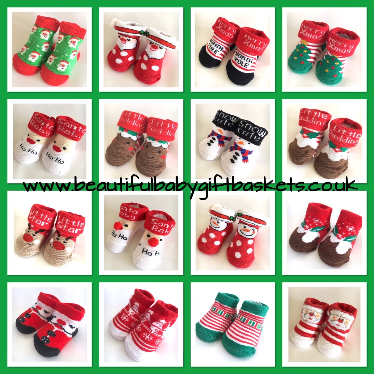 christmas baby socks booties festive