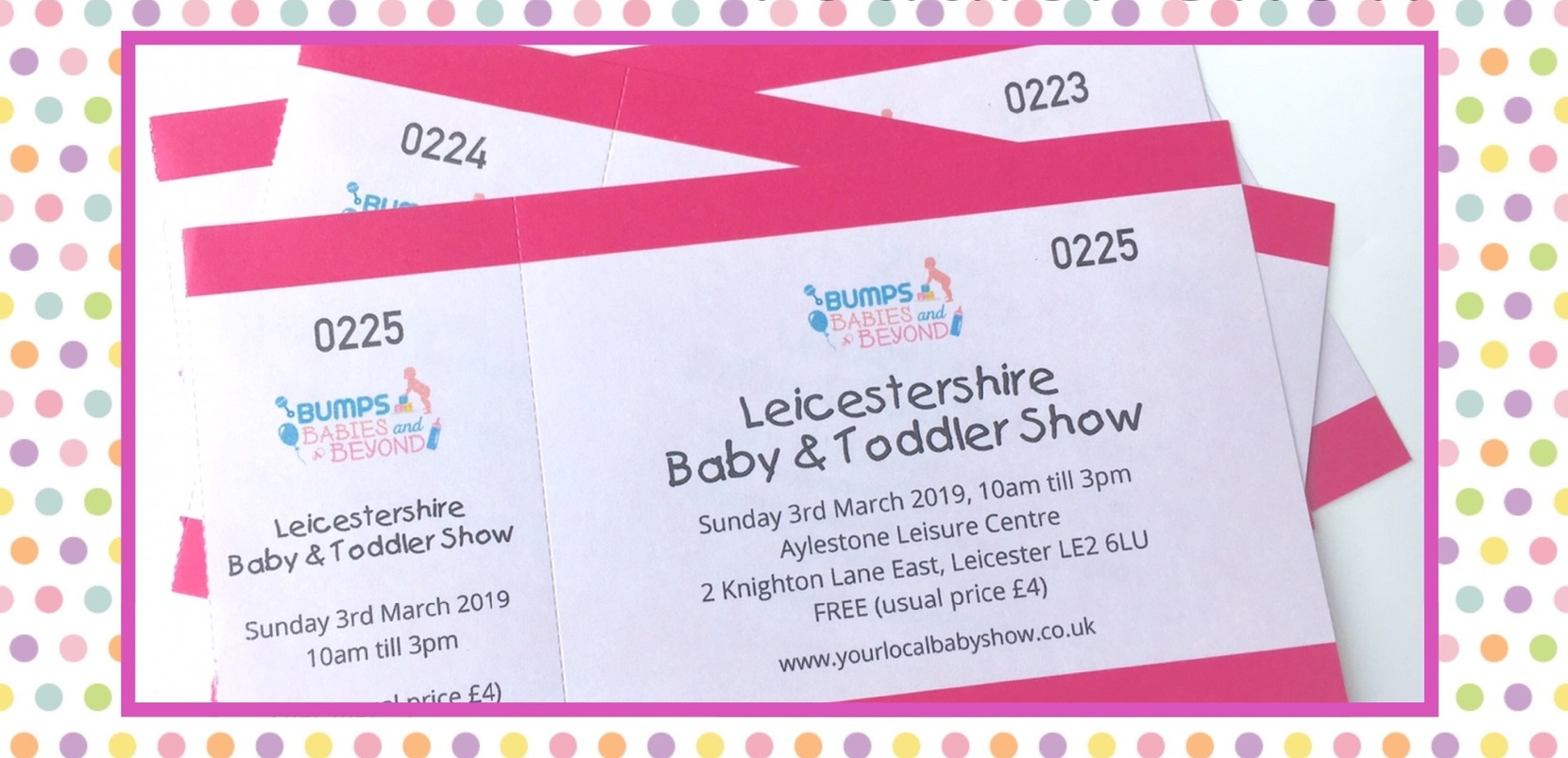 Competition Baby Toddler Show Tickets Leicester