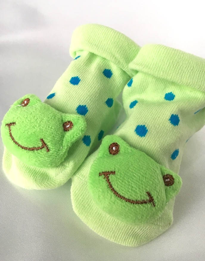 novelty frog baby socks