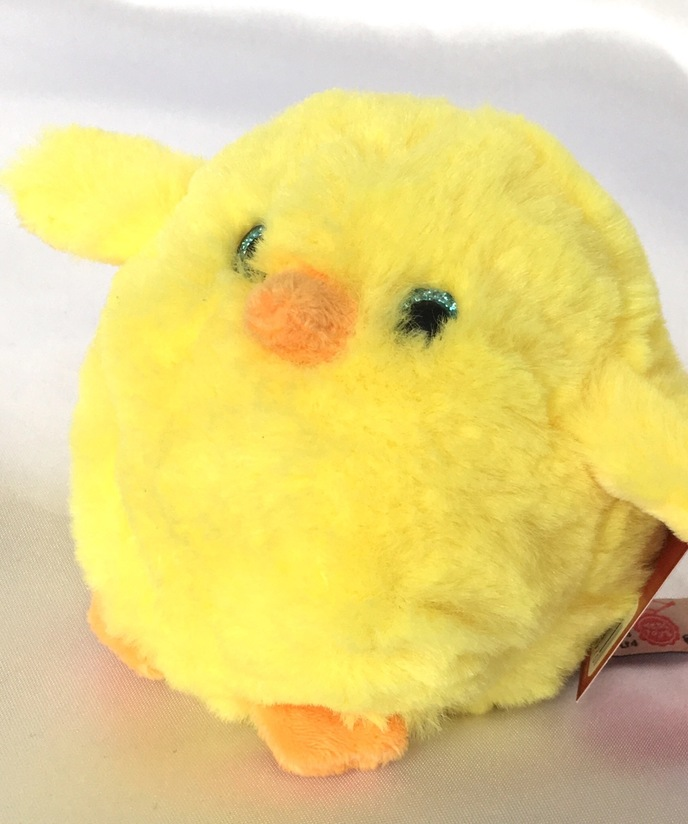 fluffy easter chick soft toy