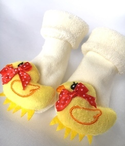 novelty baby soft duck socks