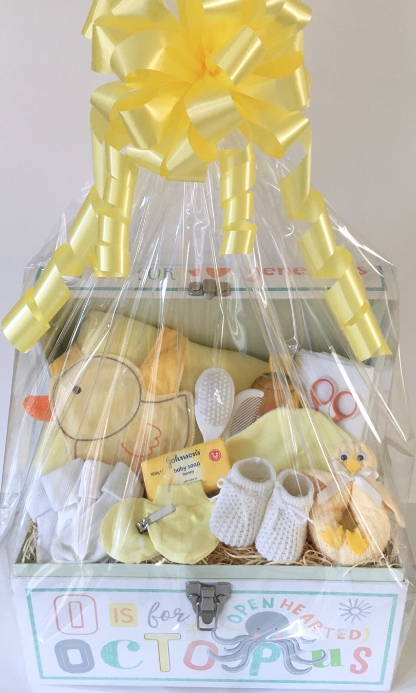 lemon toy chest new baby gift