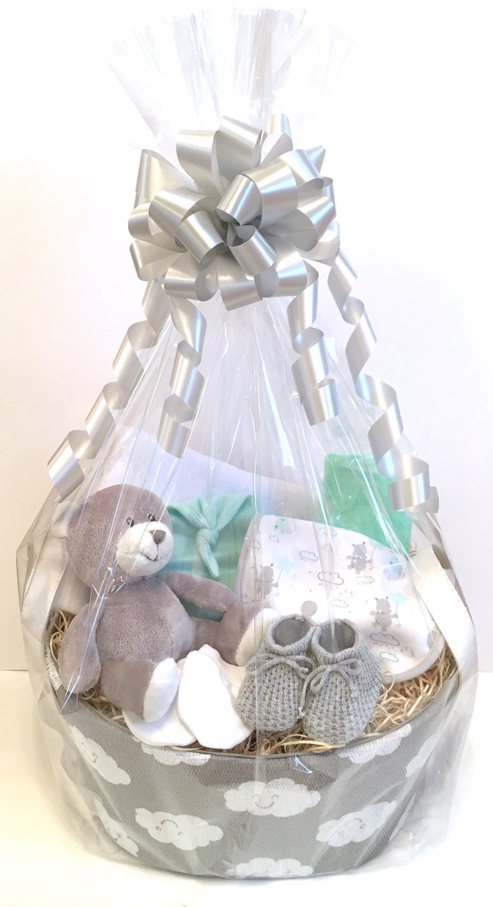 Neutral baby gift basket bedford gifts