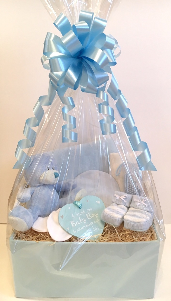baby boy gift basket hamper bedford