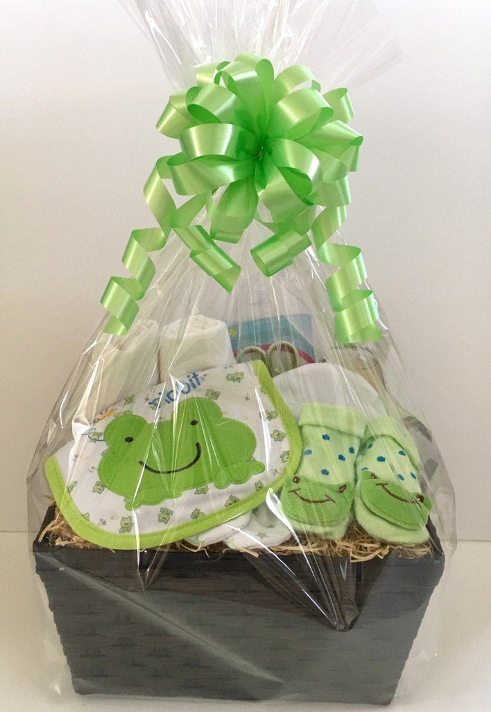 Bright Frog Baby Gift Basket Bedford