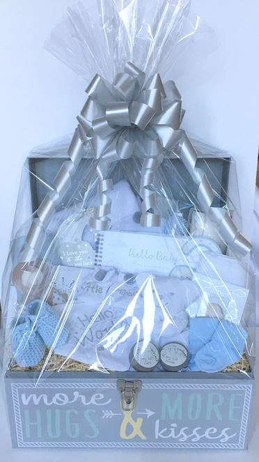 Deluxe new baby gift chest hamper bespoke
