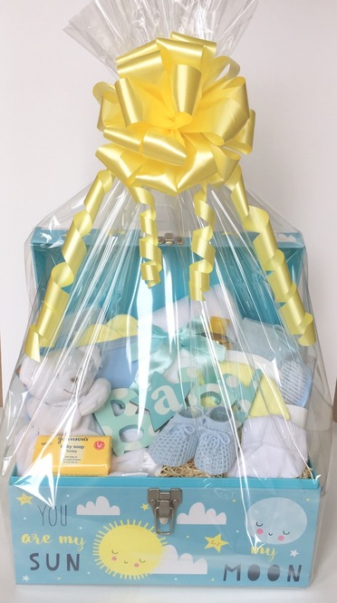 bespoke baby boy gift chest hamper