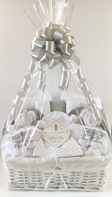 bespoke twins neutral gift basket