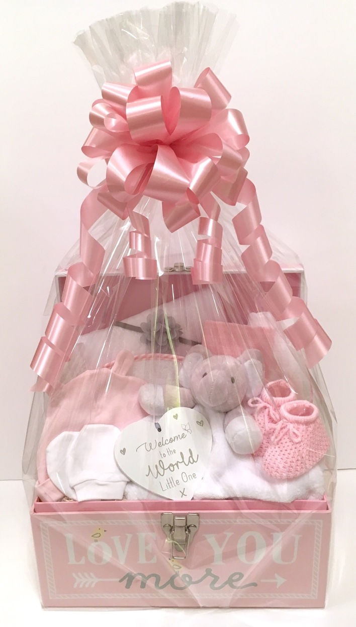 baby girl gift basket hamper bedford