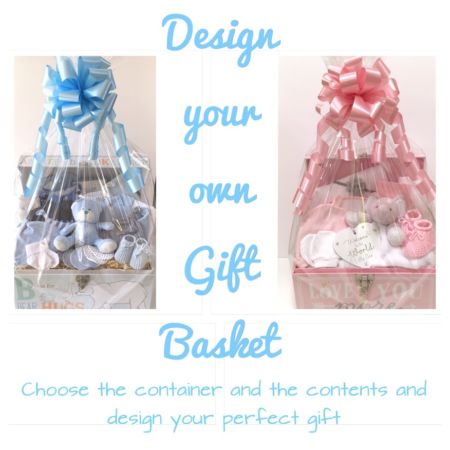 Design your own baby gift basket bedford