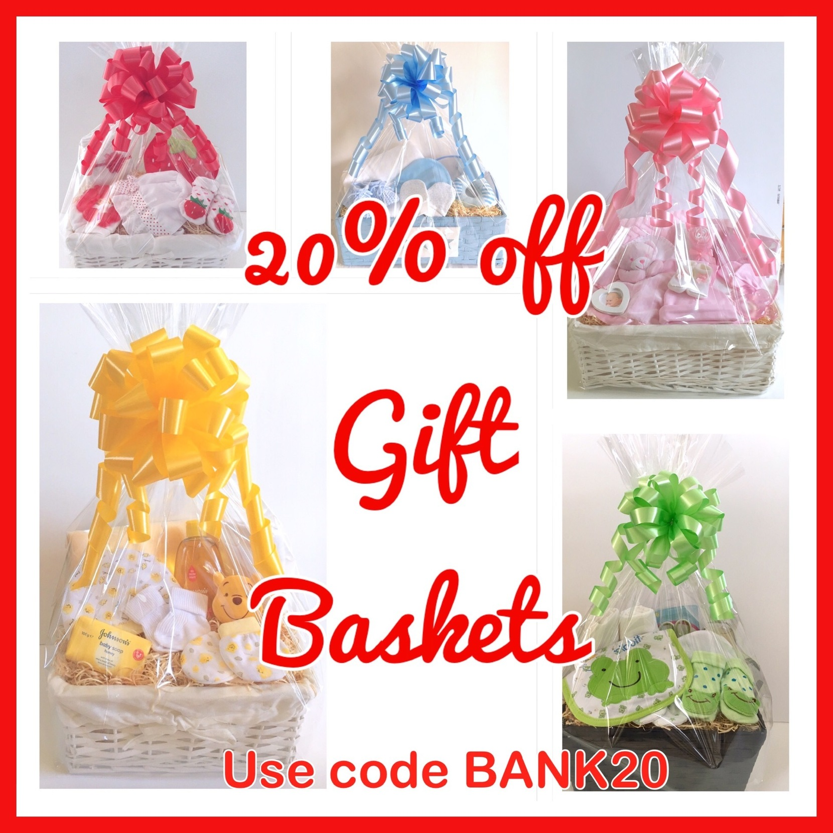 20% off special offer baby gift baskets
