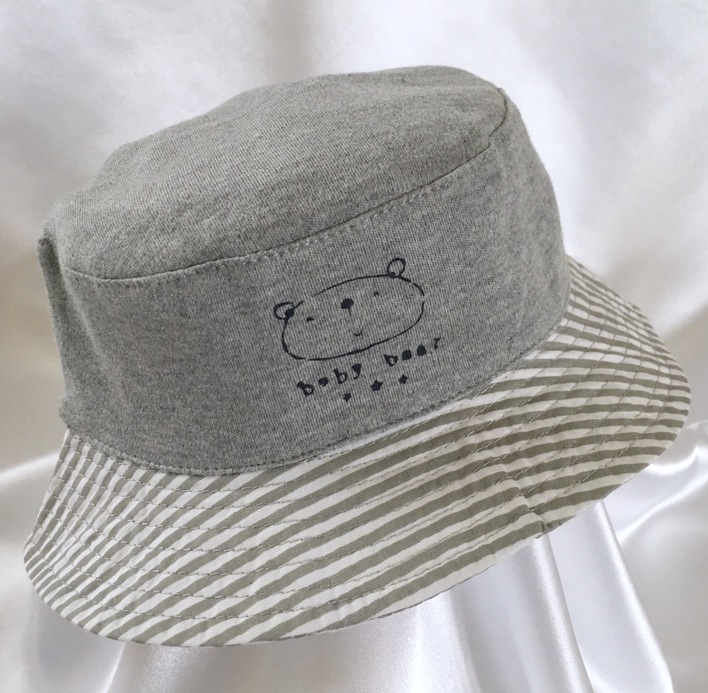 grey bear boys summer sun hat