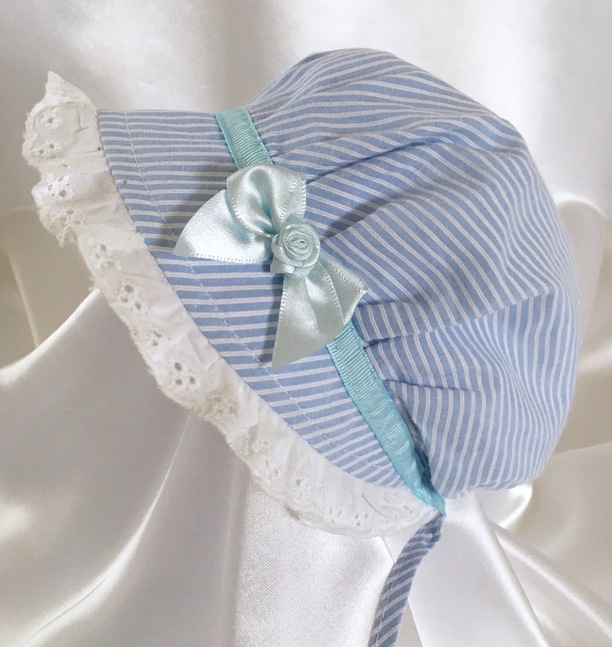 blue bonnet baby sun summer hat