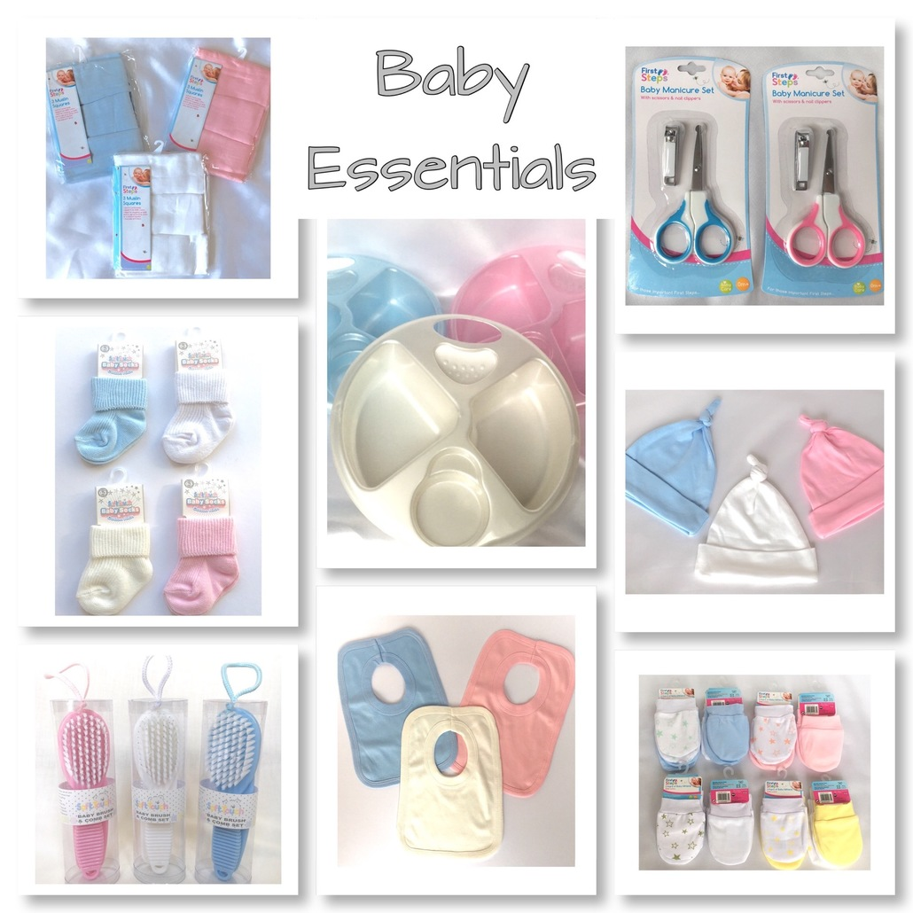 new baby essentials gift hat socks bibs
