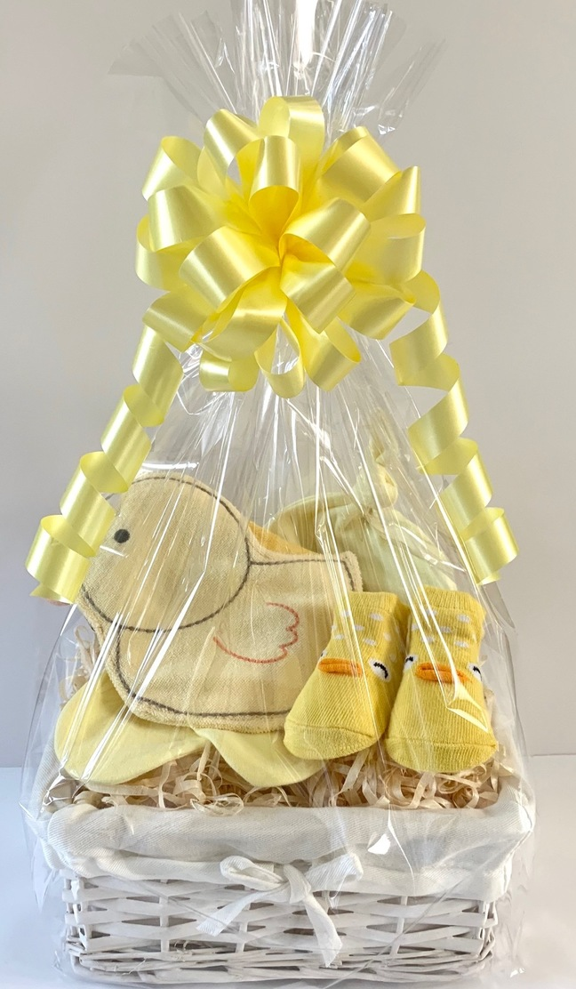 Neutral Chick  Baby Gift Basket