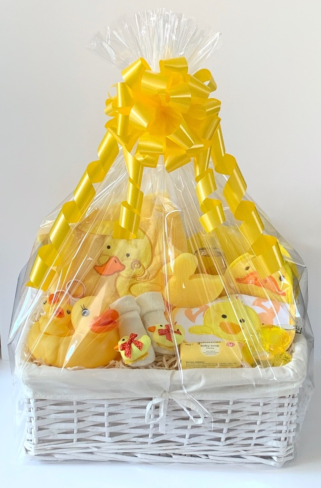 Luxury Duck Neutral Baby Gift Basket