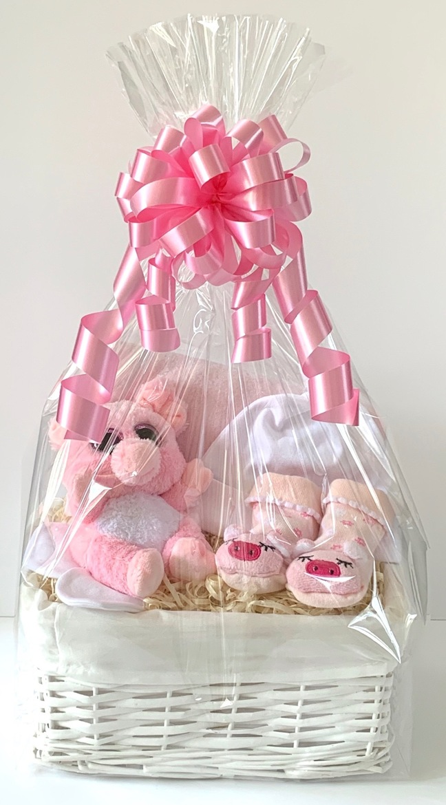 Piggy Baby Girl Gift Basket