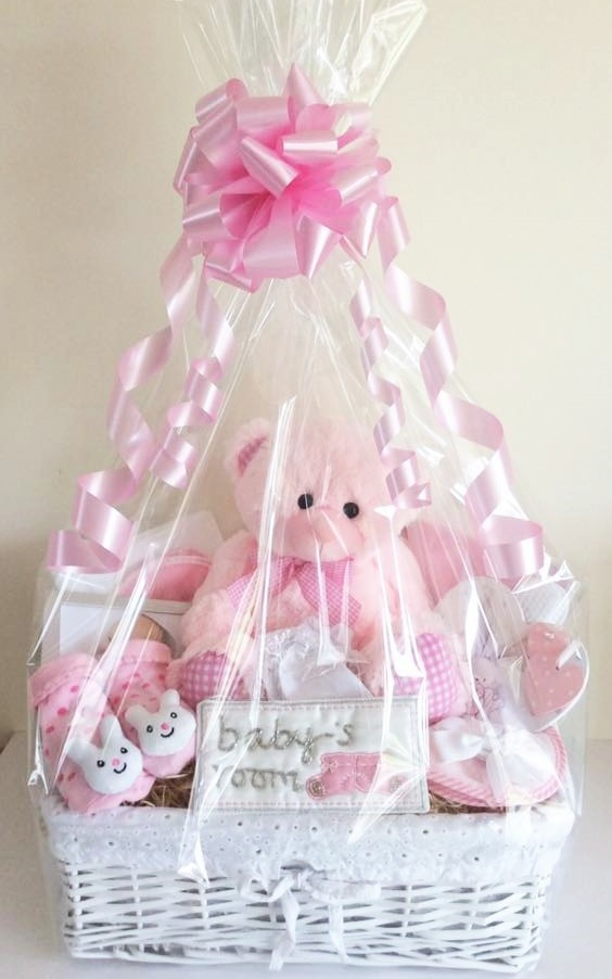 Gorgeous pink Baby Girl Luxury Gift Basket