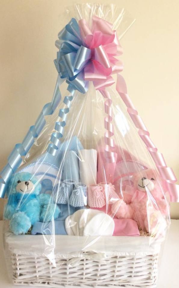 Twins Boy Girl Gift Basket Baby