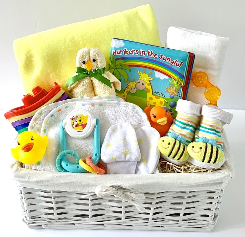 Bespoke Neutral Bathtime Baby Gift Basket
