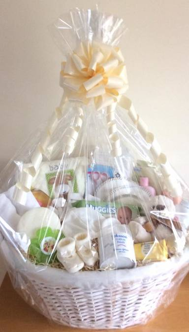 Neutral Baby Gift Basket Bespoke Bedford