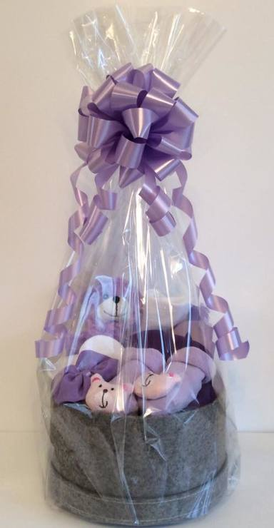 Lilac Baby Girl hat box gift