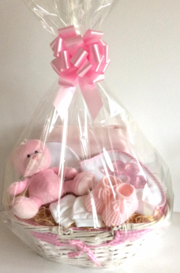 Gingham Oval Baby Gift Basket
